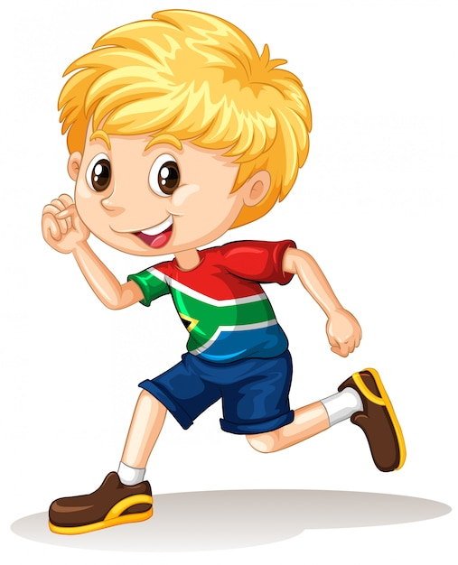 South African boy running Free Vector