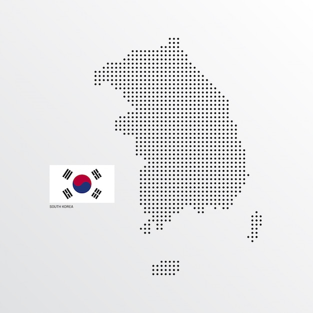 South Korea Map design  Free Vector