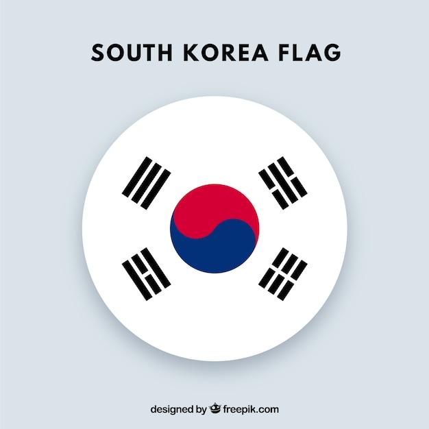 Sfondo bandiera corea del sud Vettore gratuito