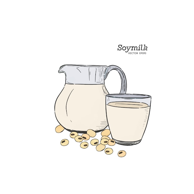 Soy milk Premium Vector