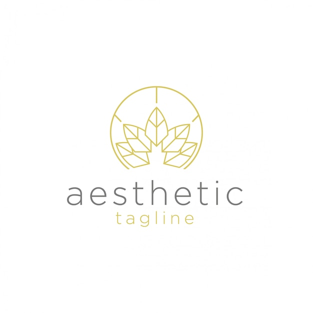 Spa and aesthetic  logo Premium Vector