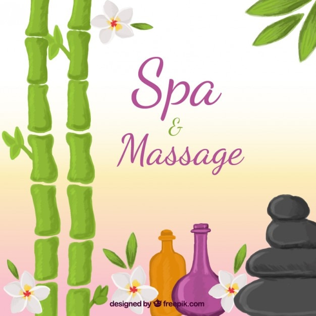 Spa and massage background
