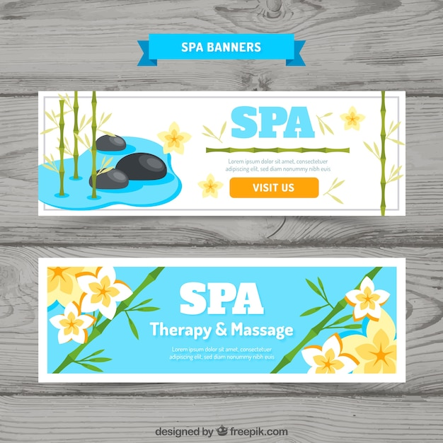 Spa and massage banners