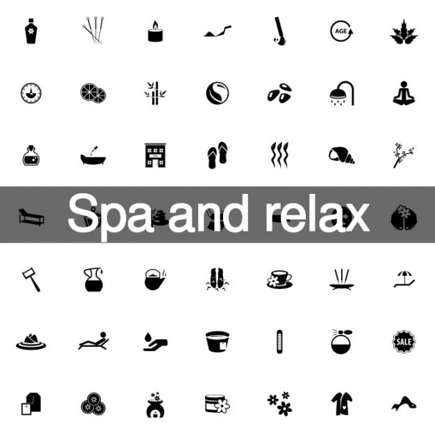 Spa and relax icons