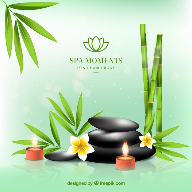 spa background in realistic design vector free download