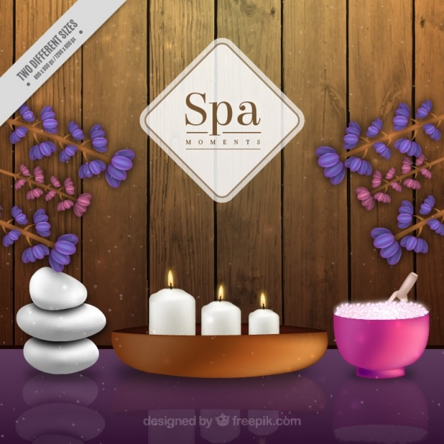 Spa background with decoration Vector | Free Download