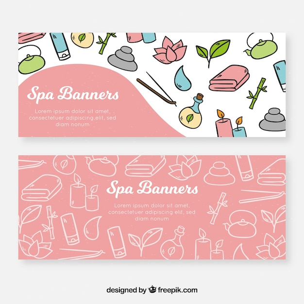 Spa banners Free Vector