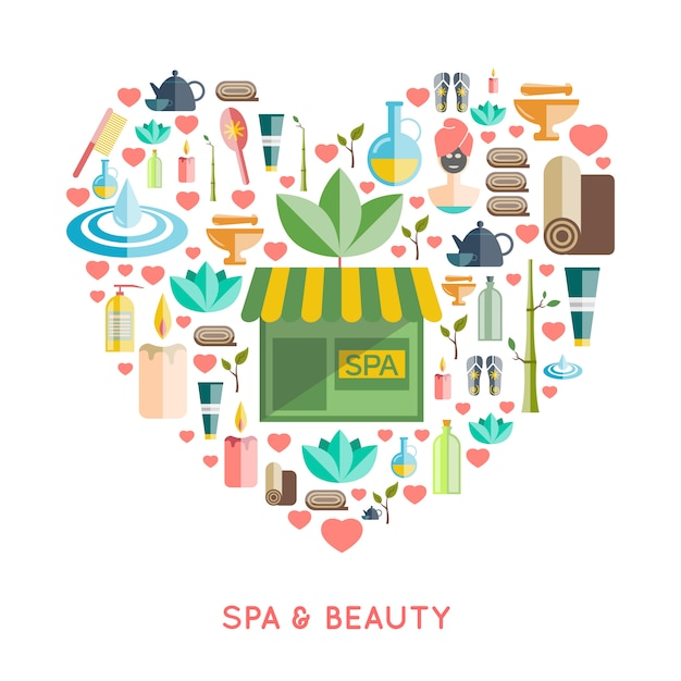 Spa and beauty concept Free Vector