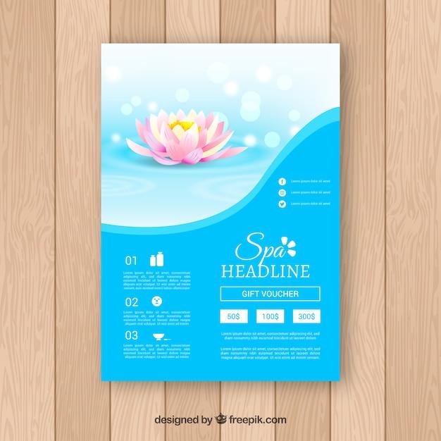 Volantino centro benessere con diversi trattamenti per il relax Vettore gratuito