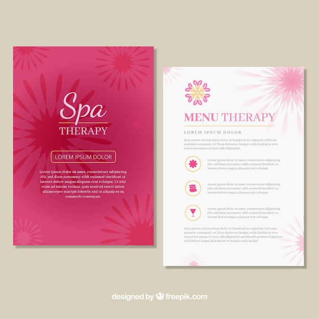 Spa Center Price List Template Free Vector