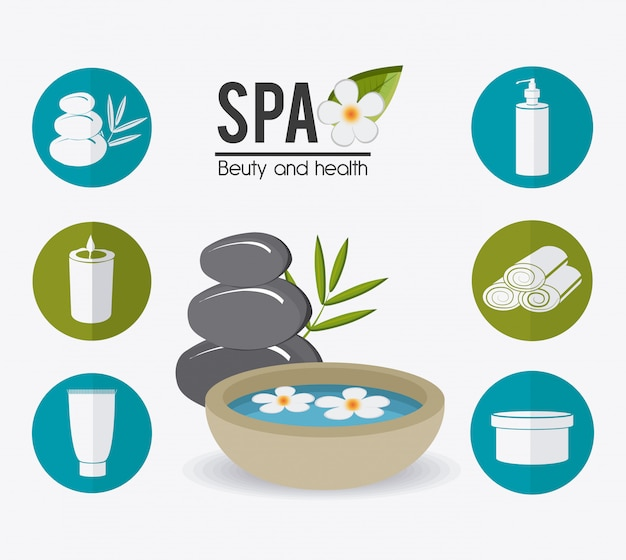 Spa design. Premium Vector