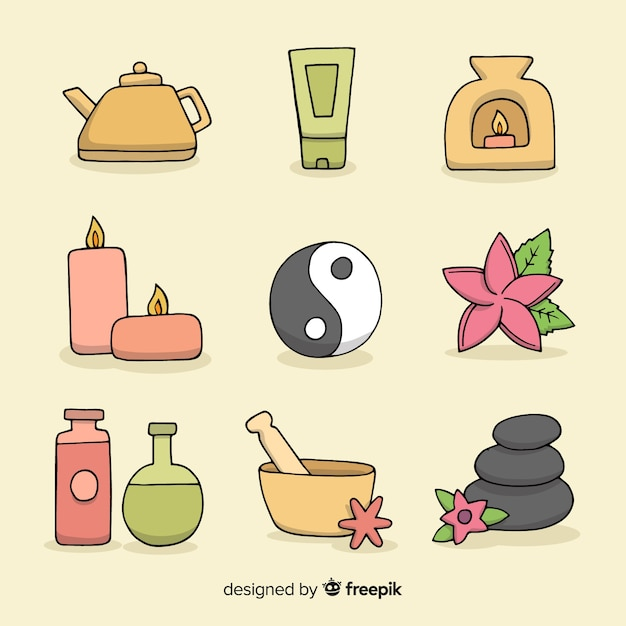 Spa elements collection Free Vector