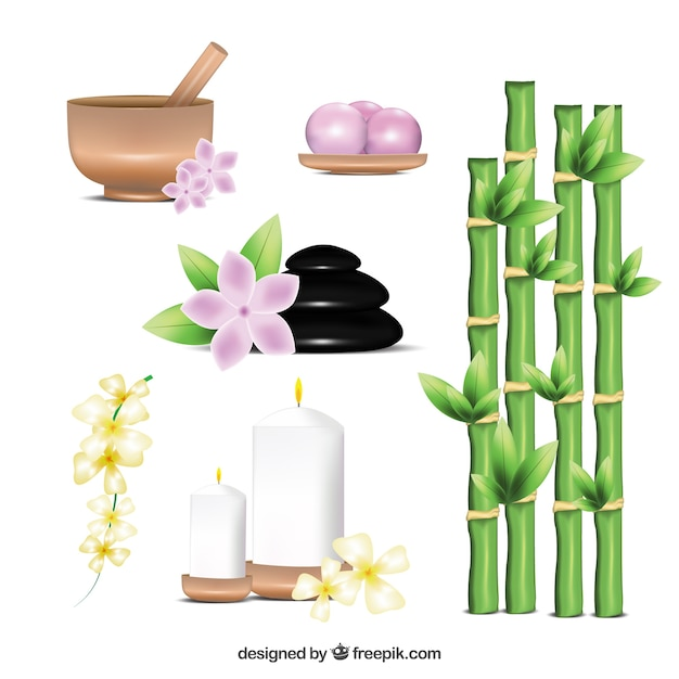 Spa elements Free Vector