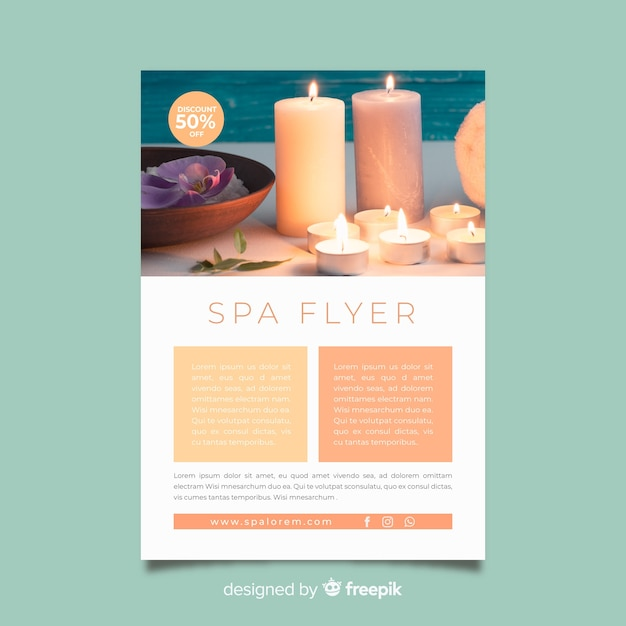Spa flyer template Free Vector
