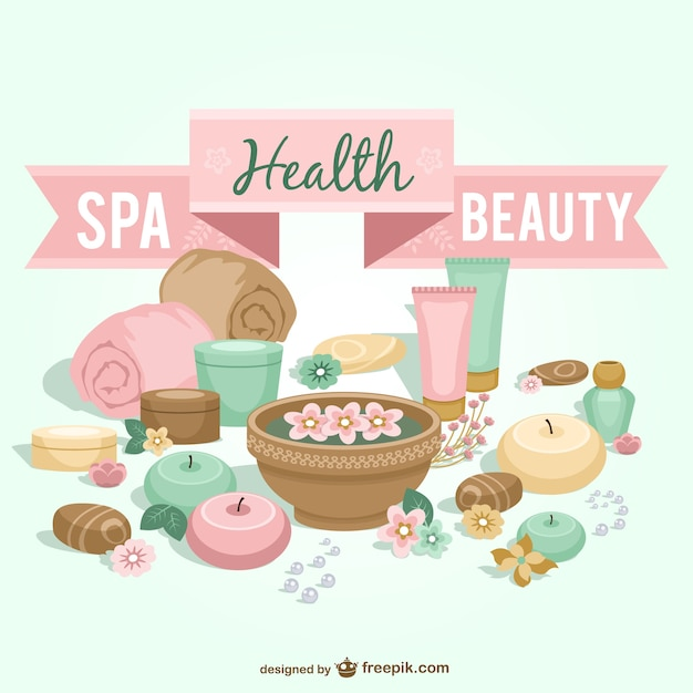 spa health and beauty elements vector free download