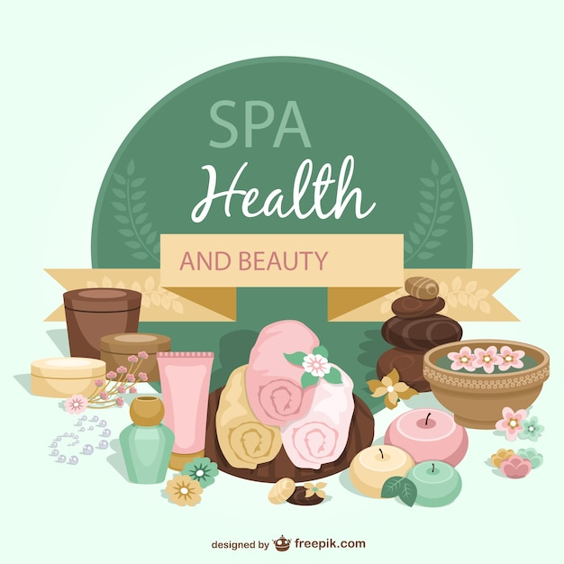 spa health and beauty template vector free download