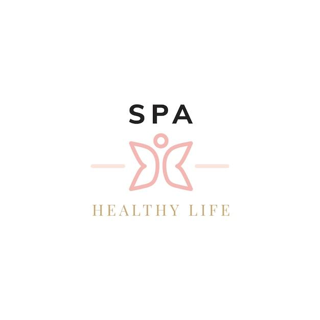 Spa healthy life logo vector Free Vector