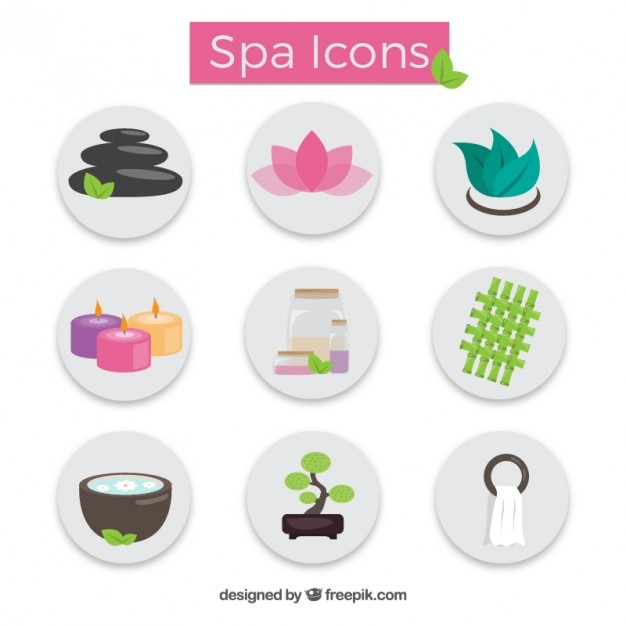 Spa icon collection Free Vector