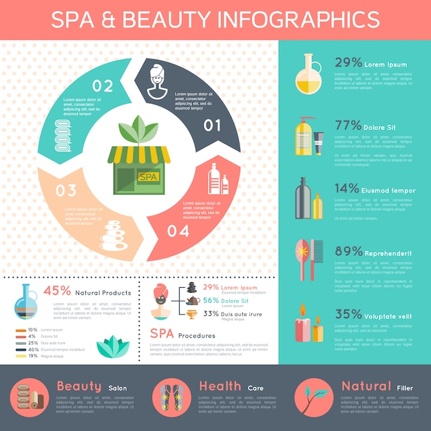 Spa infographic set Free Vector