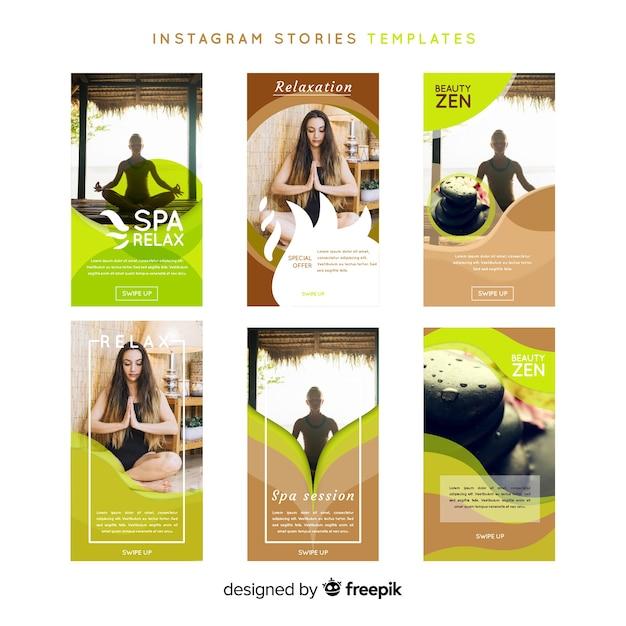 スパinstagramストーリーテンプレート Premiumベクター