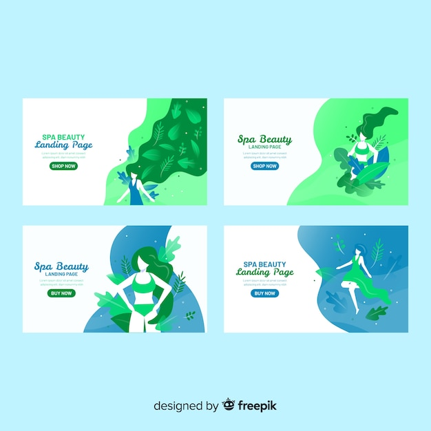 Spa landing page Free Vector