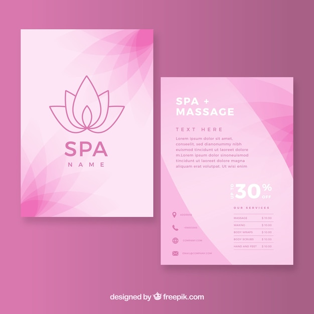 Spa and relax flyer template Free Vector
