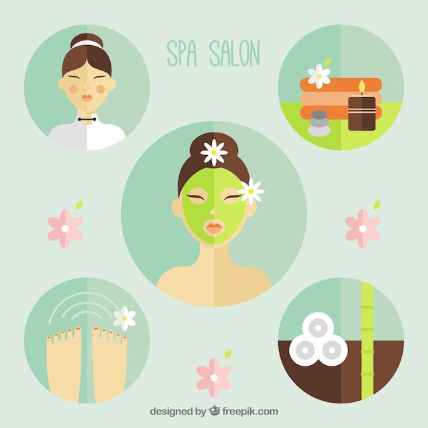 Spa salon elements