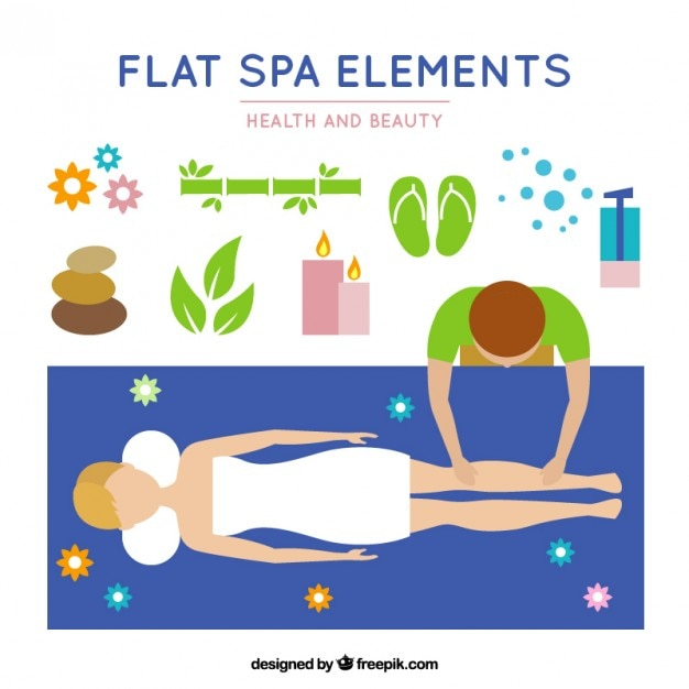 Spa session in flat design Free Vector