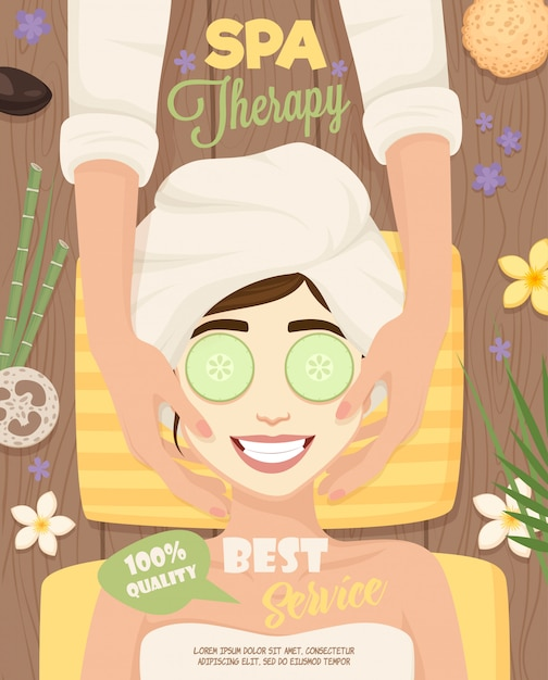 Spa skincare routine poster Free Vector