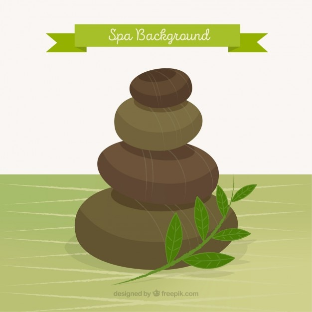 Spa stones background Free Vector