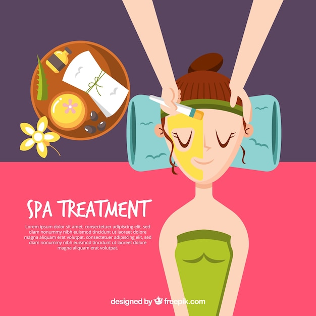 Spa treatment with woman relaxed\ background