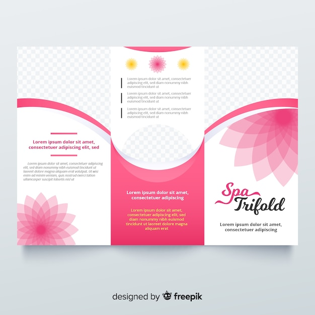 Spa trifold brochure Free Vector