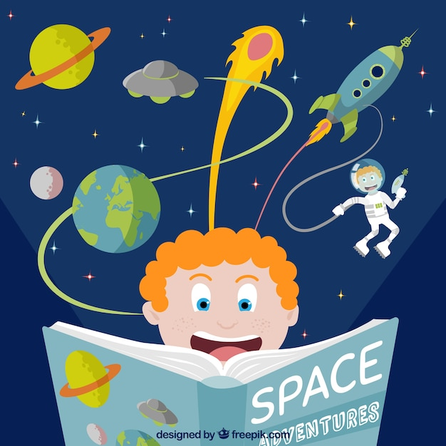 Space adventure book