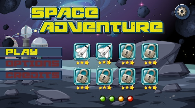 Space adventurer game background Free Vector