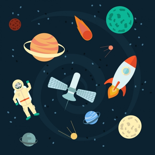 Space Background Design Vector