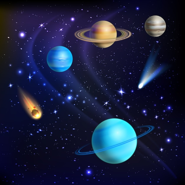Space background illustration Free Vector