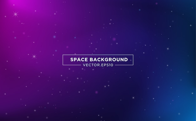 Space background template design with abstract starlight Premium Vector