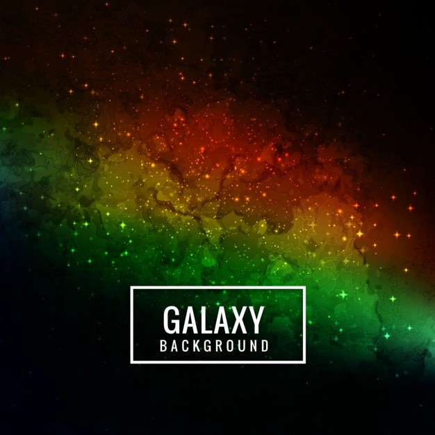 Space background with galaxy