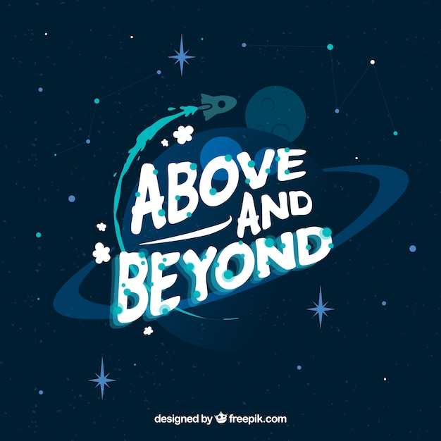 Space background with message Free Vector