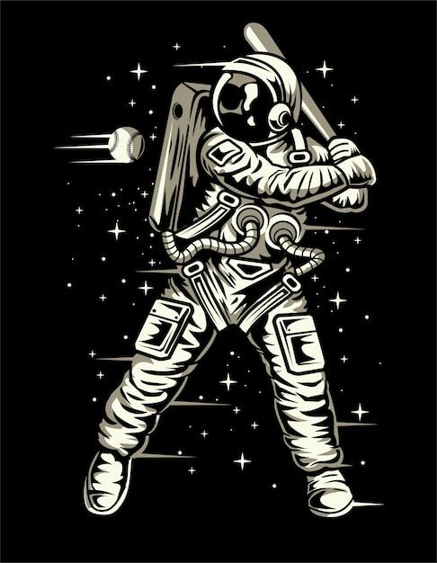 Space baseball Premium Vector