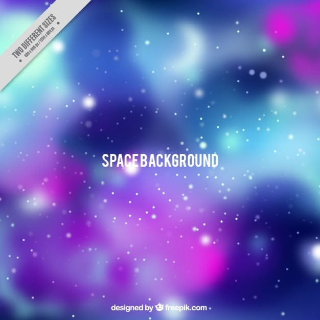 Space blurred background