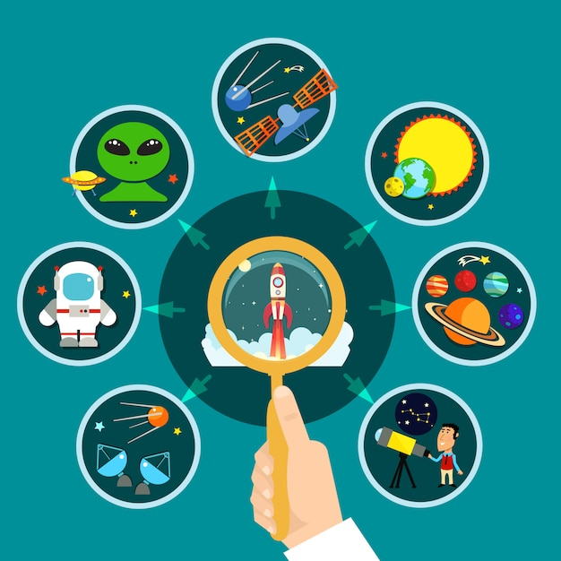 Space concept illustration Free Vector