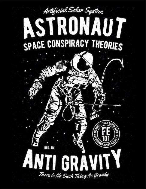 Space conspiracy theories Premium Vector
