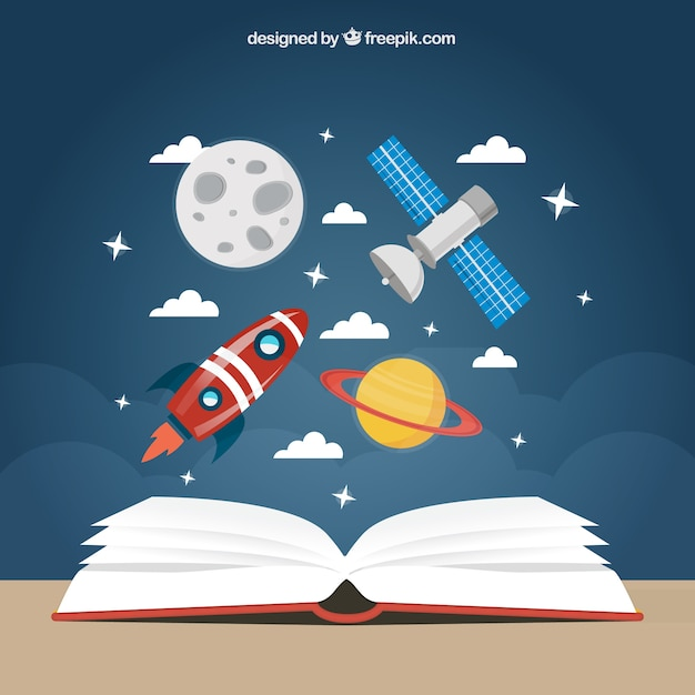 Space education background Free Vector