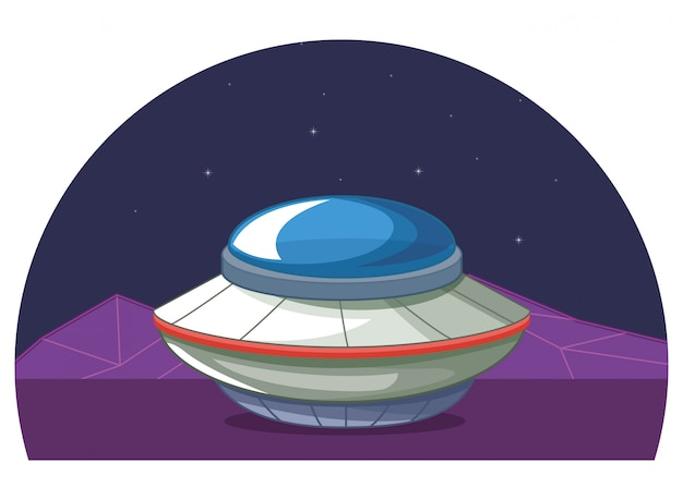 Space exploration and planets cartoon Premium Vector