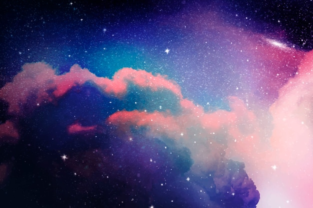 Space galaxy background Free Vector