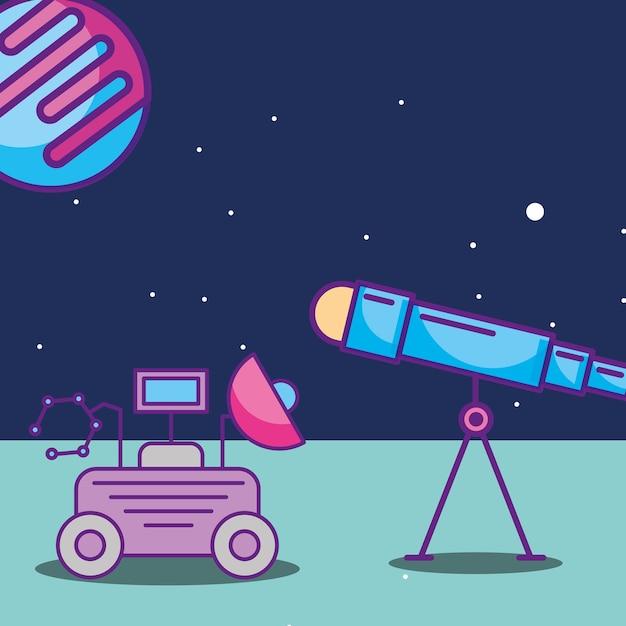 Space galaxy card Premium Vector
