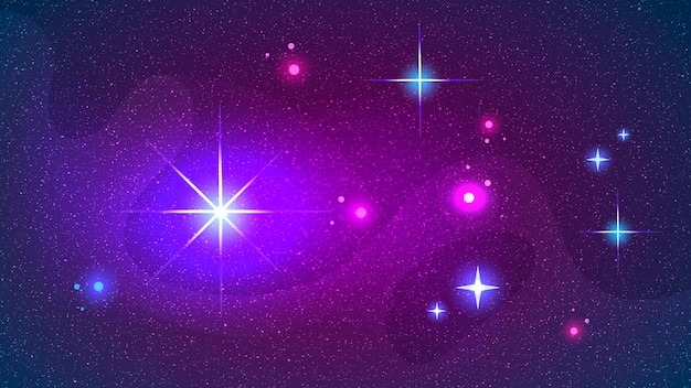 Space galaxy constellation print could be used zodiac star yoga mat Premium Vector