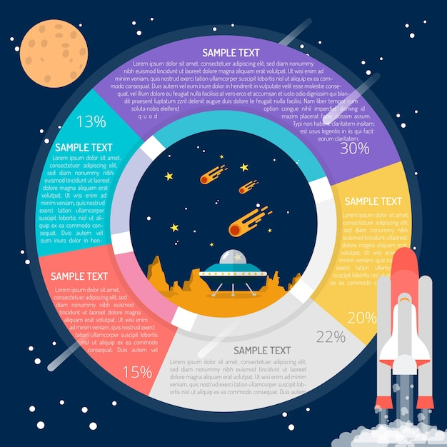 space infographic design vector
