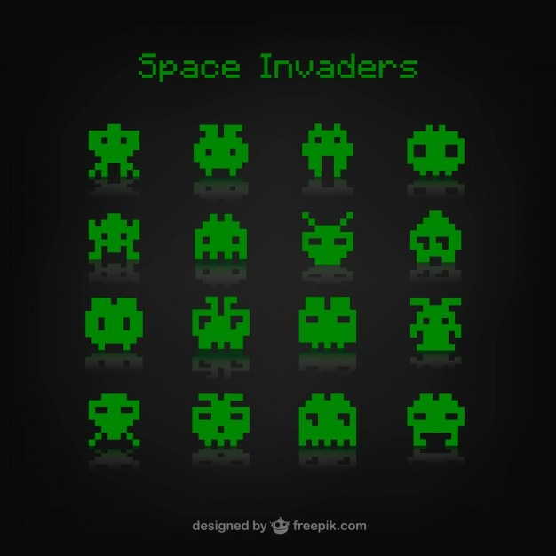 Space invaders game Vector | Free Download
